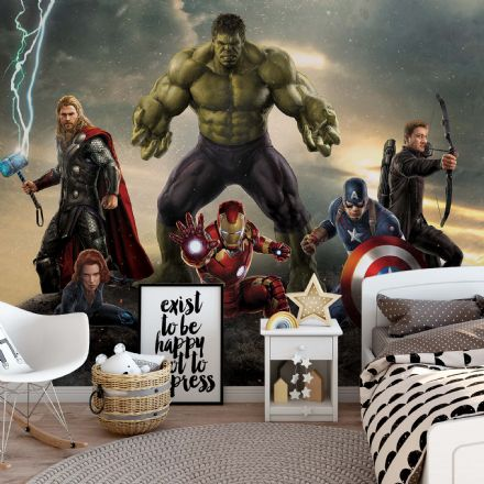 Non-woven wallpaper Marvel Avengers Battle